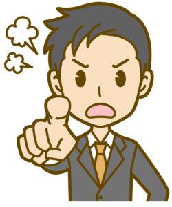男性-怒り